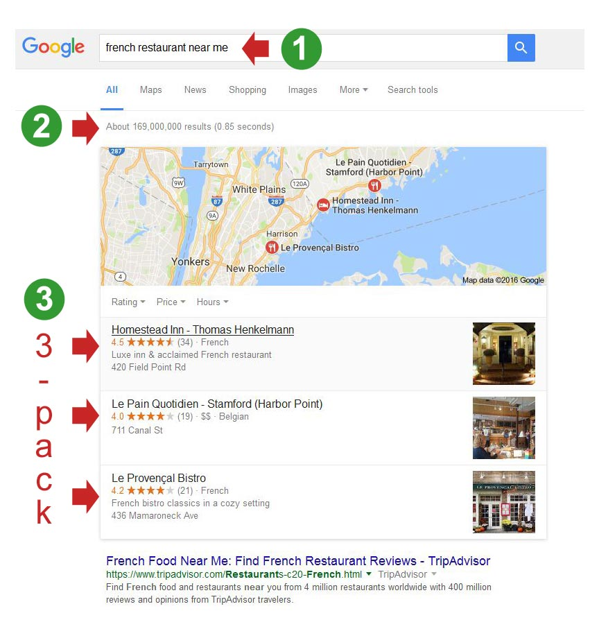 google's local 3-pack